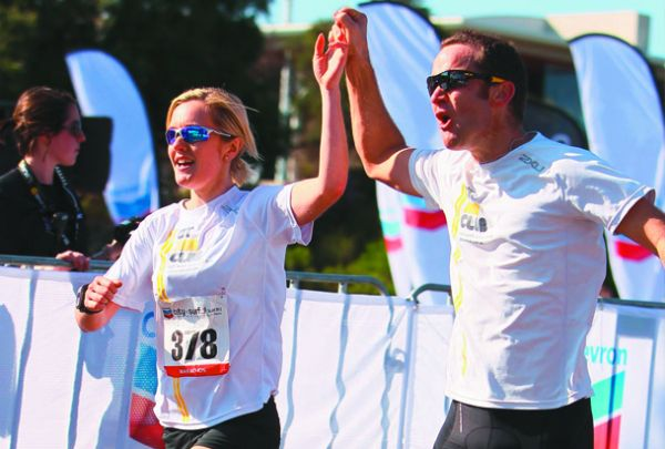 Gillian Power finishing the 2012 City to Surf Marathon